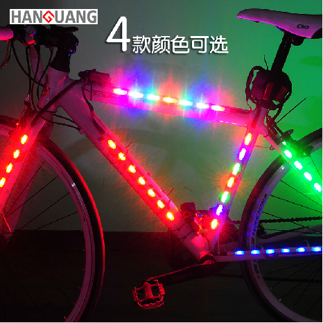 Car lights bicycle spokes lamp lights bicycle accessories and equipment dead fly stickers warning lights 14led