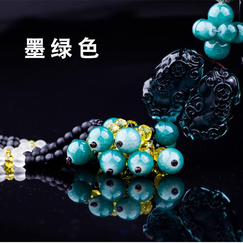 Car pendant chinese knot car hanging crystal ornaments car interior security and peace symbol pendant jewelry