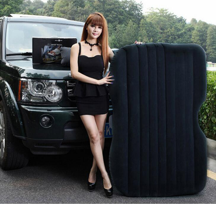 Car portable inflatable mattress simple backline rushing air bed car shock bed twin car air bed fun