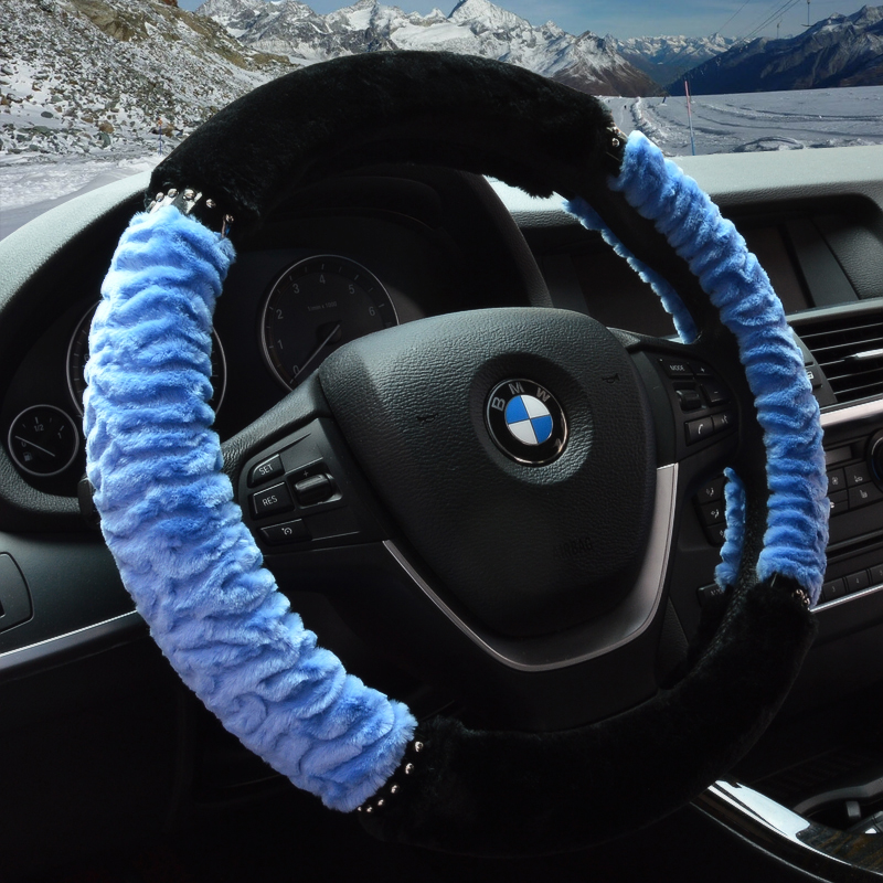 Car steering wheel cover in winter short plush grips applicable toyota rav4 corolla crown yi zhi hanlan reached