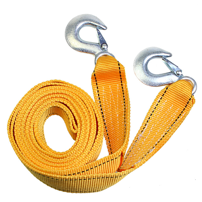 Car tow rope tow rope 5 t 4 m thick nylon strong traction rope necessary traveling by car suv