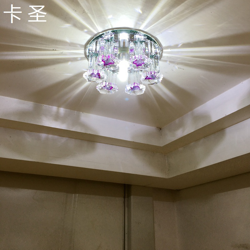 Card st. creative led crystal aisle lights entrance hall corridor lights spotlights hole hole lamp living room lamp ceiling 213