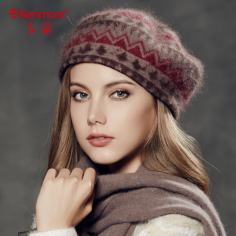 Carmon winter hat wool hat female korean version of the british beret hat knitted hat millinery hat winter cap beret painter