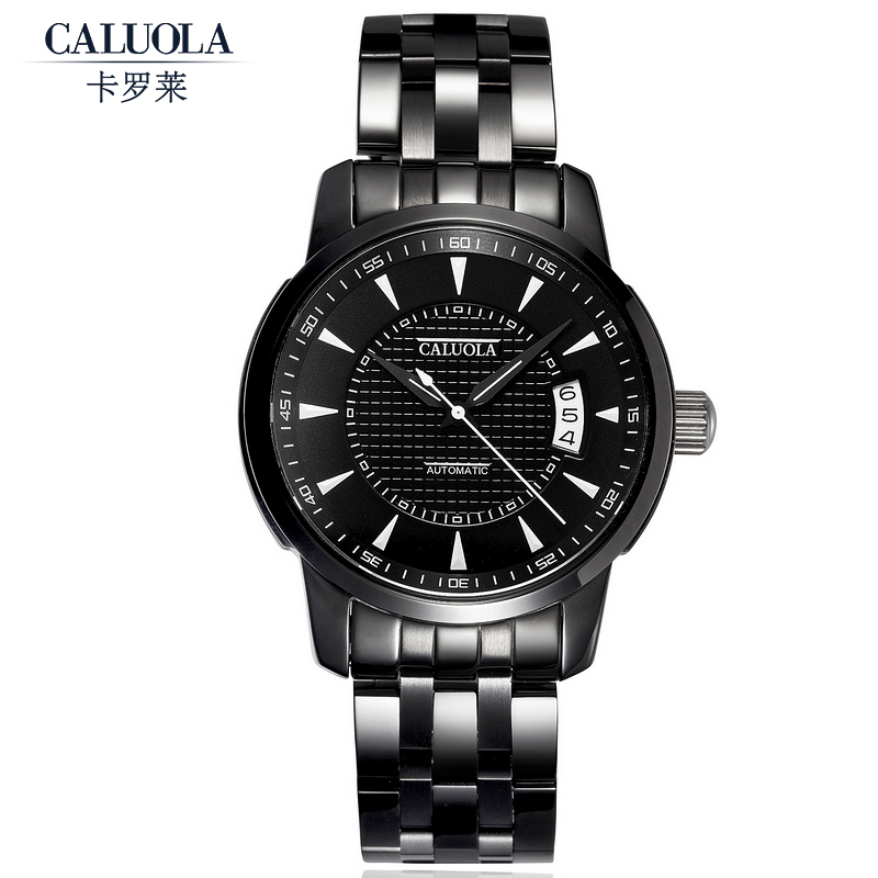 get quotations carolina automatic mechanical watch sports men watch men watch black belt steel belt waterproof watch ca1014 - Watch Black Christmas