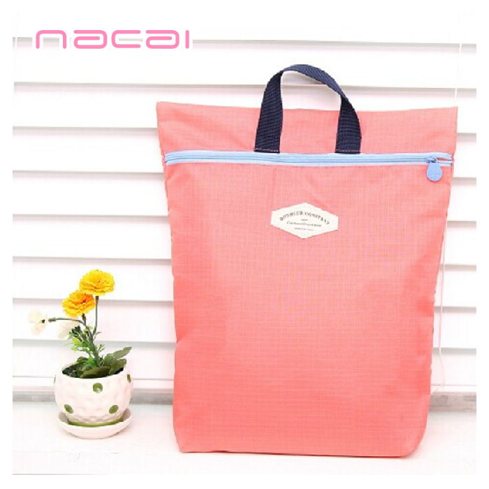 Carolina color travel pouch portable folding portable multifunction waterproof nylon bag clothing finishing bag 3 colors free shipping