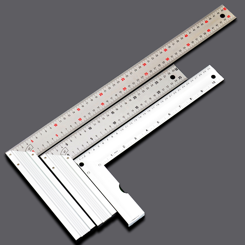 Carpenter on steel angle 90 degree angle square foot rectangular carpentry ruler ruler measurement tools hardware carpentry 300mm500mm 500mm