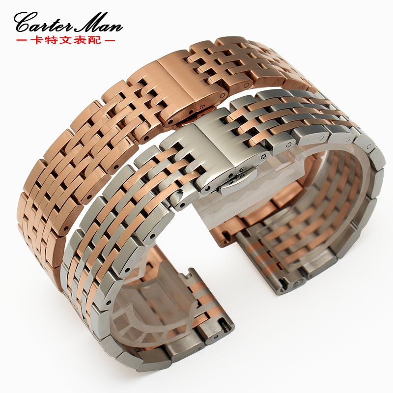 Carter man universal stainless steel wristwatch male applicable tissot seagull rossini watch 19 | 20mm rose gold