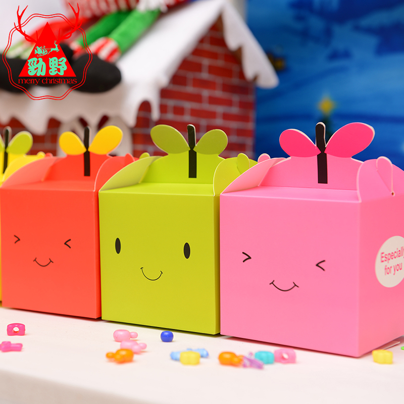 Cartoon apple box christmas gift box christmas eve apple box green apple fruit packaging carton