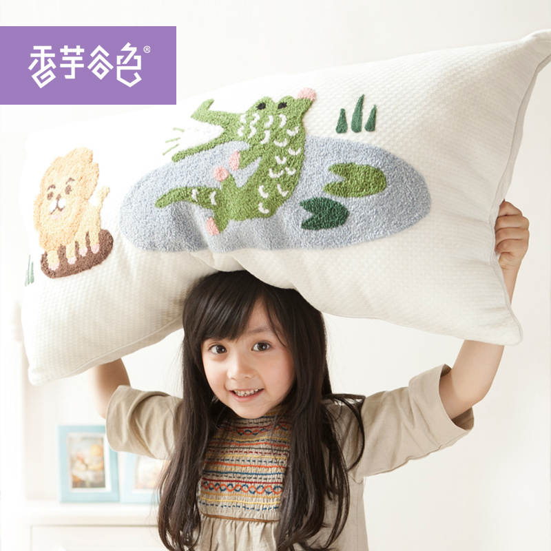 Cartoon creative fashion backrest pillow cover taro valley lu color children long pillow pillow cushions without the core