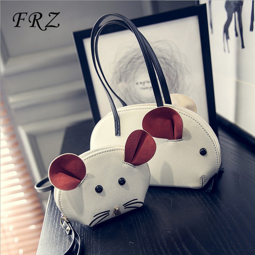 db975b9587 Get Quotations · Cartoon creative handbags personality cute animal mouse super  meng soft sister small bag tide picture package