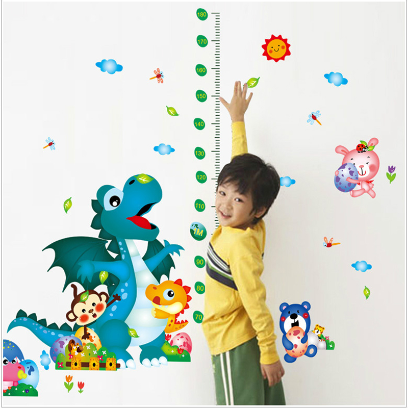 Cartoon height stickers removable wall stickers bedroom living room background wall since paste painting 9229