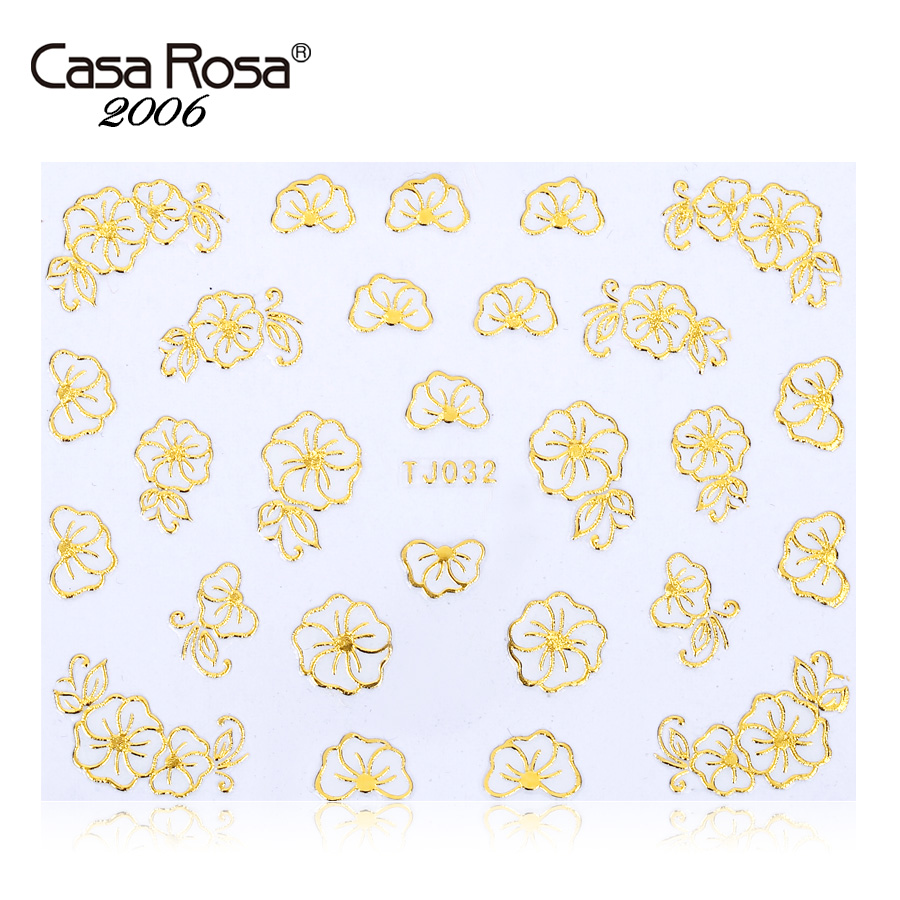 Casa rosa nail jewelry phnom penh petal texture nail sticker nail decals nail stickers 3d stereoscopic nail decals