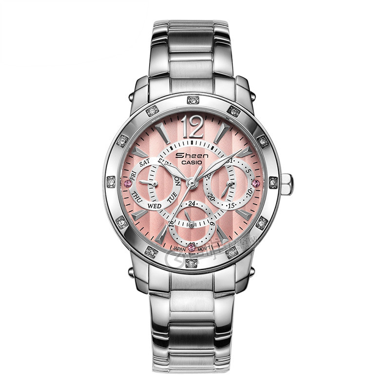 Casio casio ladies watch ladies fashion diamond steel quartz watch waterproof female form shn-3012d-4a