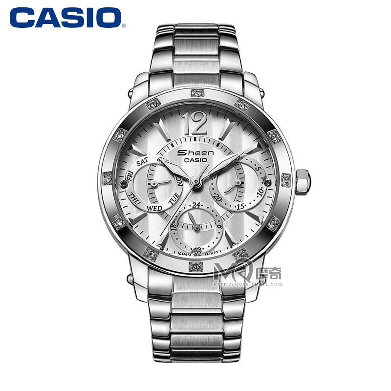Casio casio ladies watch steel quartz ladies watches fashion diamond ladies watch shn-3012d-7a