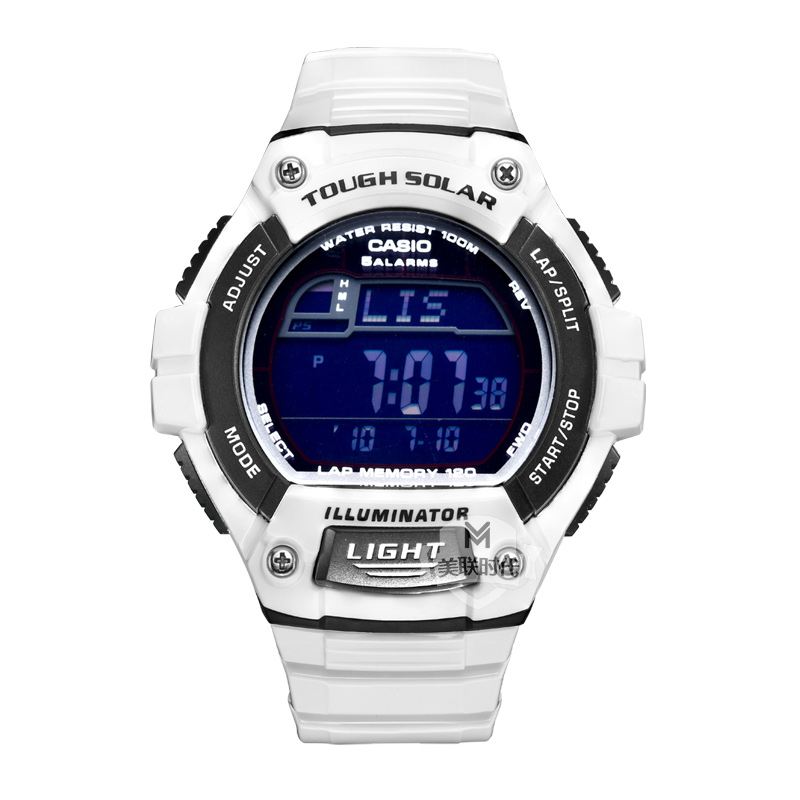 Casio casio watches led electronic watches men's resin w-s220c-7b chronograph watch waterproof male table calendar