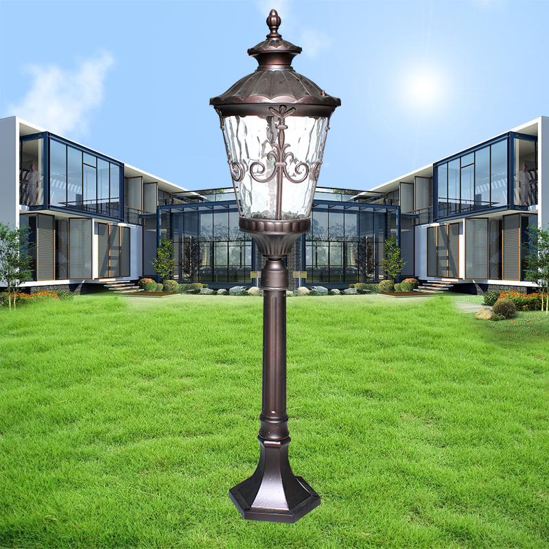 Cast aluminum lawn light lawn lights villa district continental black garden landscape lighting outdoor garden room
