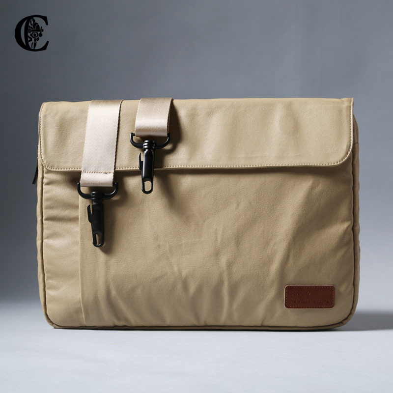Casual canvas shoulder bag messenger bag laptop computer bag liner bag personality casual bag messenger bag man
