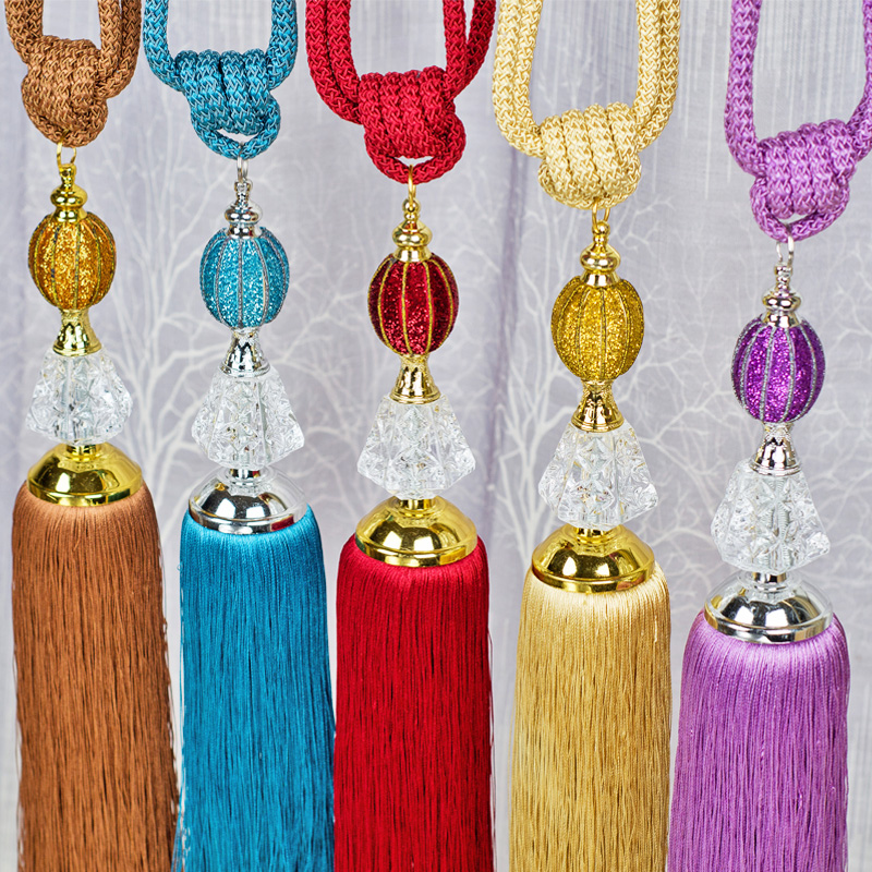 Cause still crystal sequins curtain straps hanging ball curtain accessories curtain hook curtain buckle straps rope korean