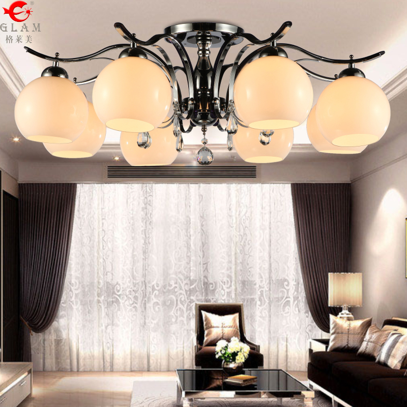 Ceiling fixtures modern minimalist living room lamp led crystal lamp stylish living room lamp warm and romantic atmosphere lamp