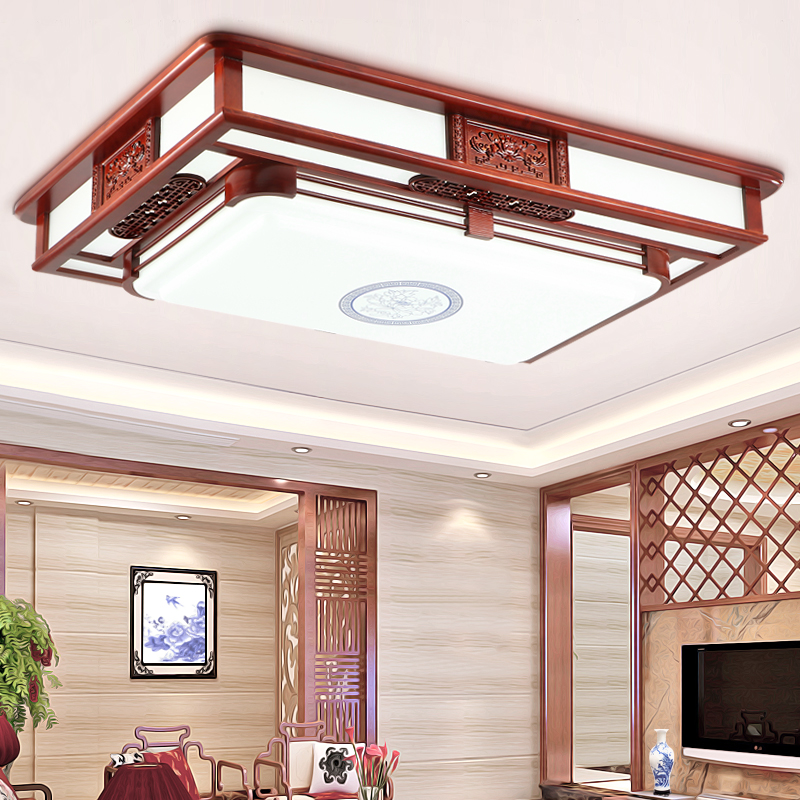 Ceiling lights rectangular living room lamps chinese wood bedroom lamps washing senanayake force study led lamp chinese