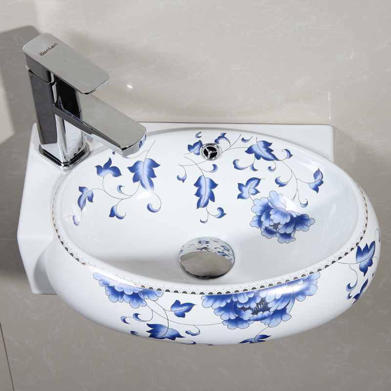Get Quotations Ceramic Wall Hung Basin Bathroom Mounted Wash Vanity Washbasin Small Hanging Mini Corner