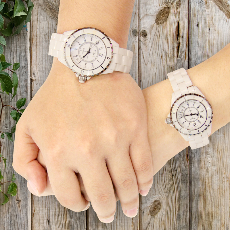 Ceramic watches female korean fashion students watch waterproof quartz watch couple watch one pair price of 520 to commemorate the gift