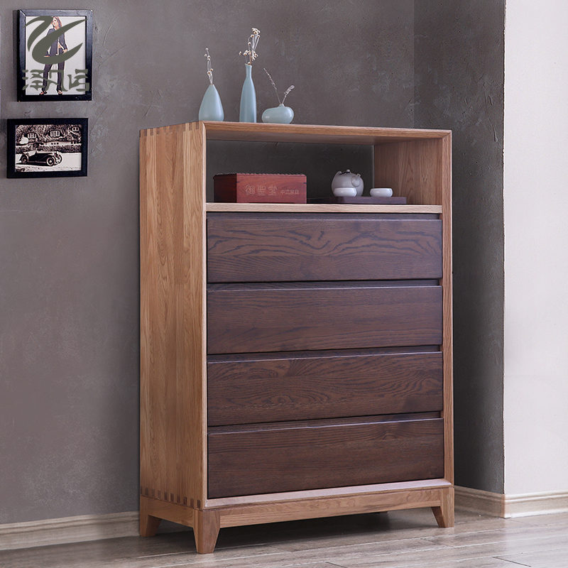 Chak stefano japanese style all solid wood chest of drawers modern minimalist living room decoration cabinet oak lockers storage cabinets aigui