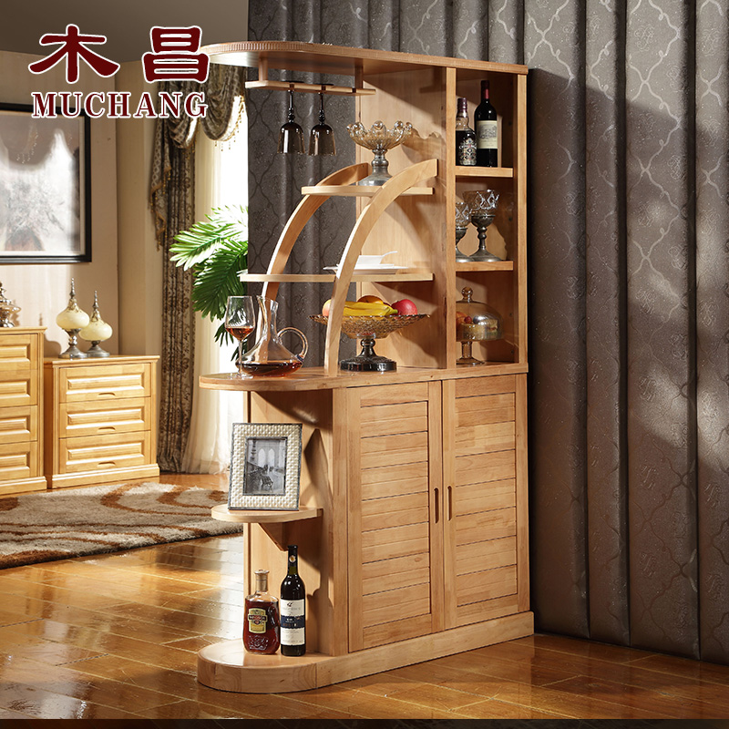 Chang wood solid wood corner cabinet sided partition cabinet between the cabinet office cabinet entrance hall cabinet wine curio upscale shipping
