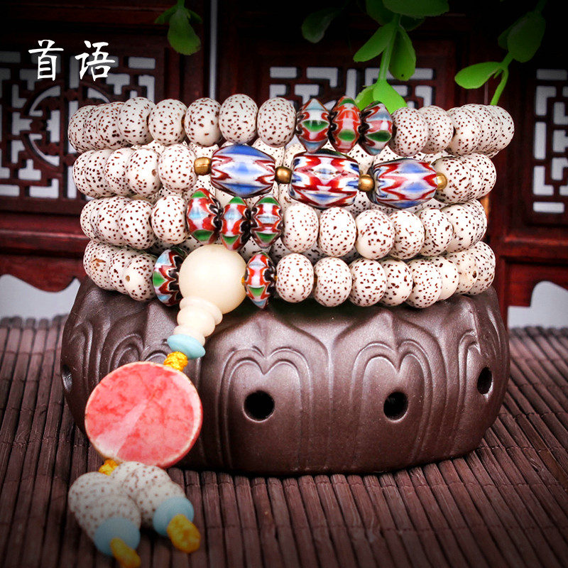 Chapeau xingyue bodhi 108 prayer beads bracelets lunar January a + month high density dry grinding pu tizi man playing bracelet necklace