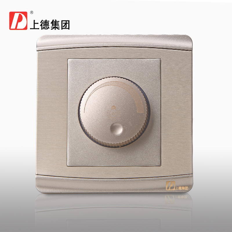 Chdele dimmer switch to adjust the brightness of lights dimmer brightness adjustment concealed wall switch champagne