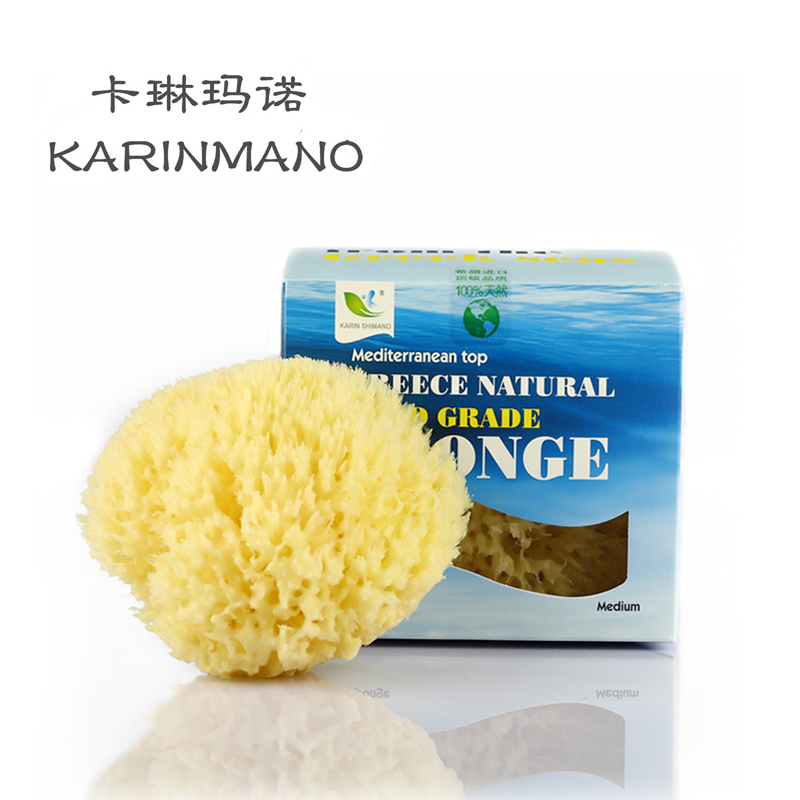 Cheap greece natural honeycomb sponge bath ball children playing in the water bath clean surface flutter seaweed wash cotton bath rub shipping