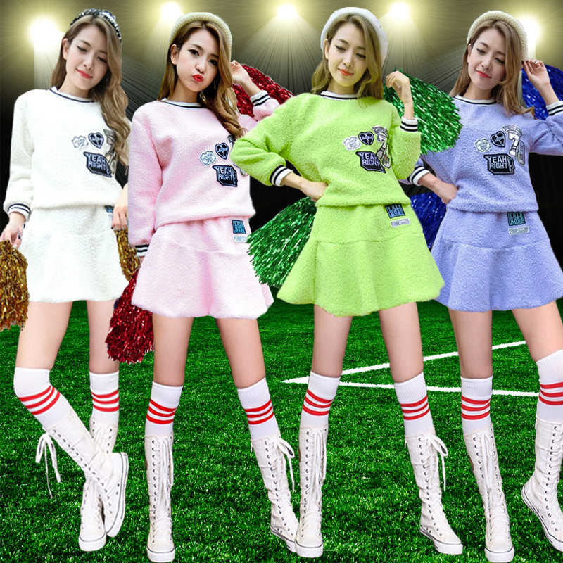 Cheerleading apparel cheerleading uniforms cheerleading apparel group costumes girlhood same paragraph autumn and winter football baby