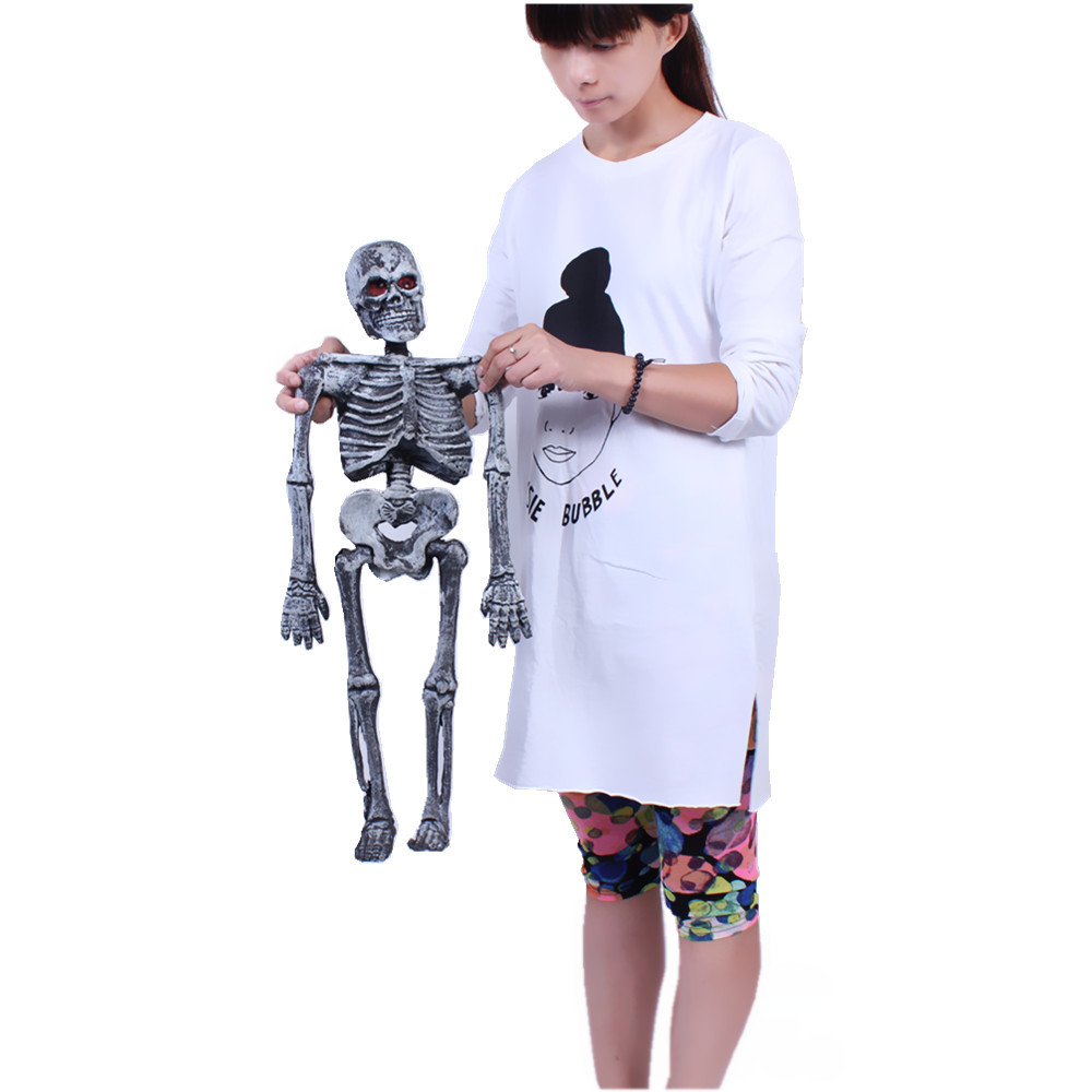 Chen tao 375g tricky halloween dress up props haunted house halloween supplies skeleton skull luminous sound