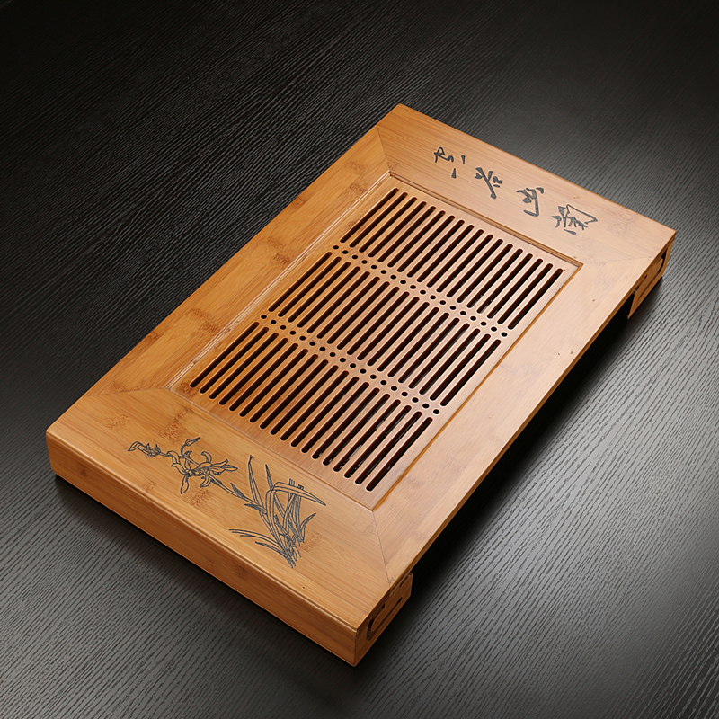 Chen xiang tea bamboo tea tray tea tray drawer drain style tea sets tea sea bamboo tea tray tea tray specials