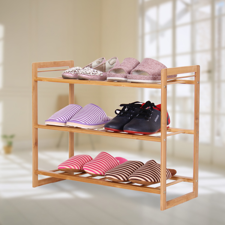 Chen yi gifted a simple and practical multilayer creative shoe shoe shoe rack bamboo wood shoe storage cabinet special disassemble shelf
