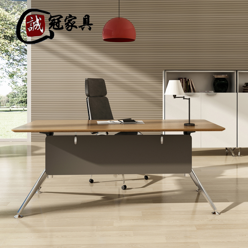 Cheng guan office furniture minimalist modern new boss desk desk desk fashion plate paint desk desk desk manager desk supervisor
