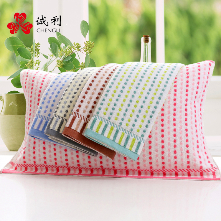 Cheng li fashion dot cotton pillow single cotton pillow covers one pair of genuine big thick towels special offer free shipping