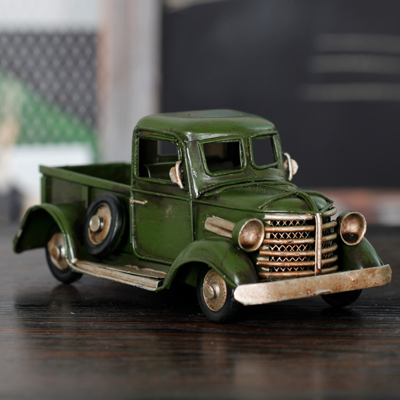 Cheng yi handmade retro metal classic car model shooting display props furnishings creative decorations birthday gift