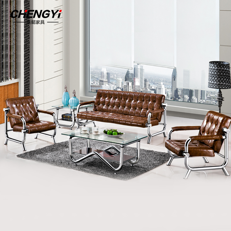Cheng yi office sofa combination minimalist modern three simple parlor sofa office business