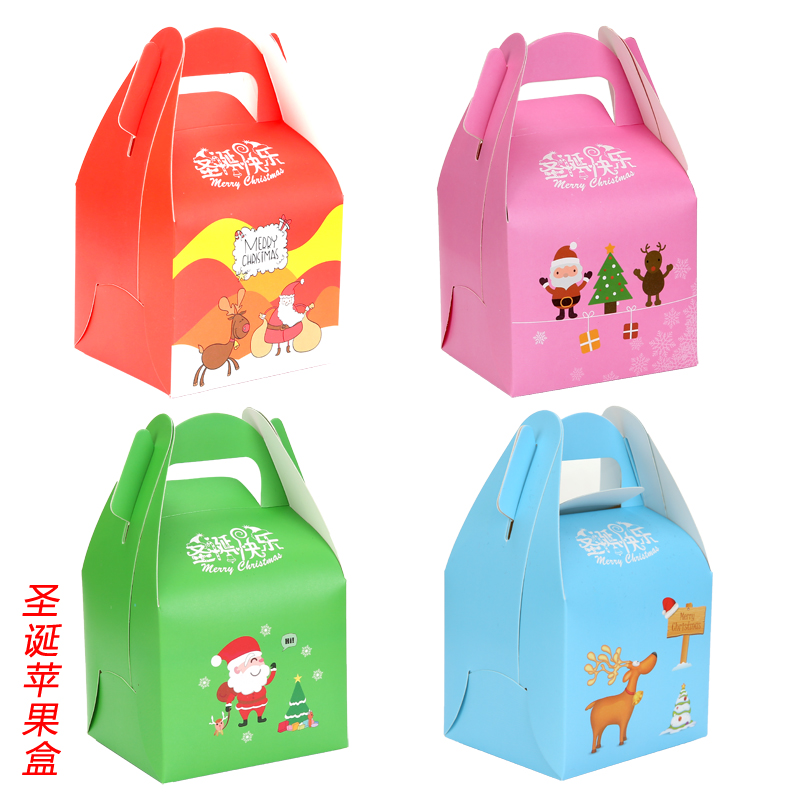 Cheung man christmas christmas fruit apple box green apple box green paper gift box wholesale