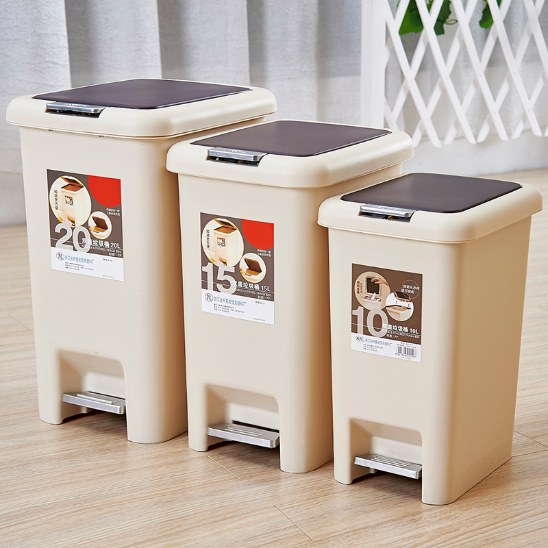 Cheung tsing yi jing hand by foot double cover fashion creative household kitchen and bathroom trash bins