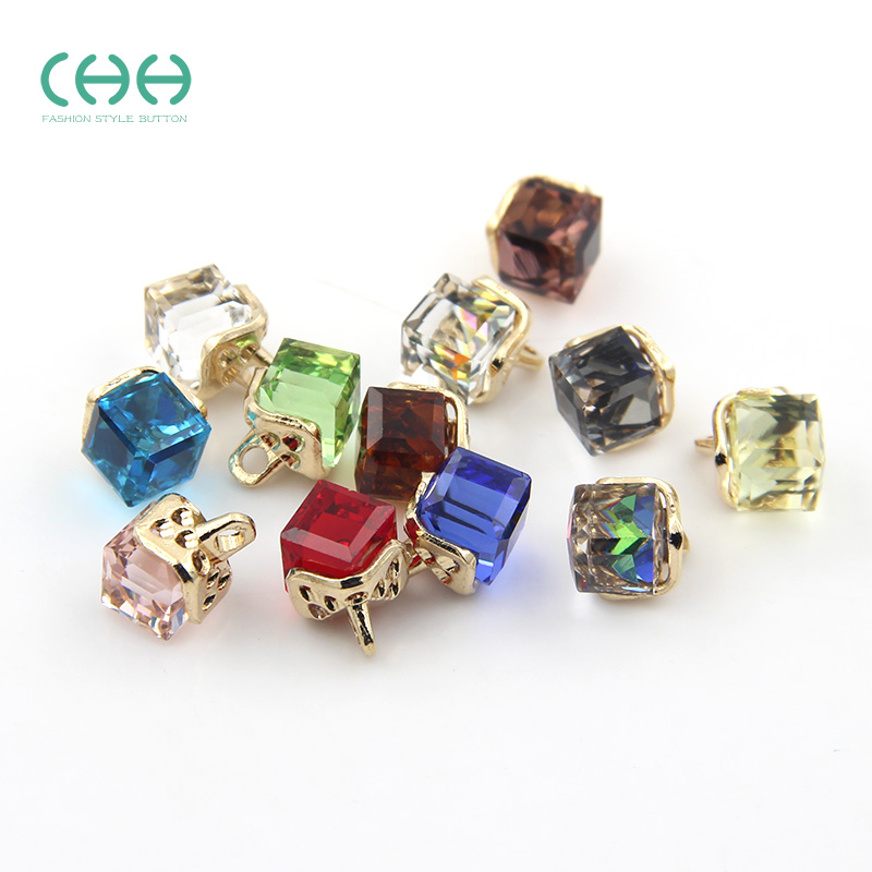 Chh buttons transparent crystal glass decorative buckle clasp buckle button shirt button cardigan sweater buckle clasp buckle female clothes buttons