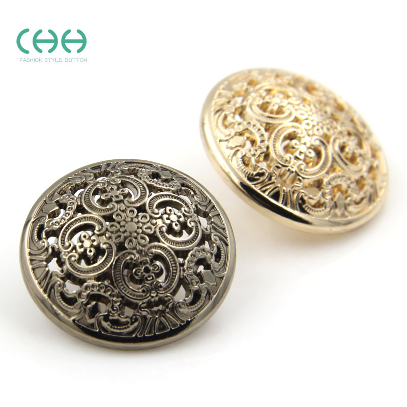 Chh clothing hollow female small suit coat metal buttons clothes buttons buttoned coat buttons gold buttons