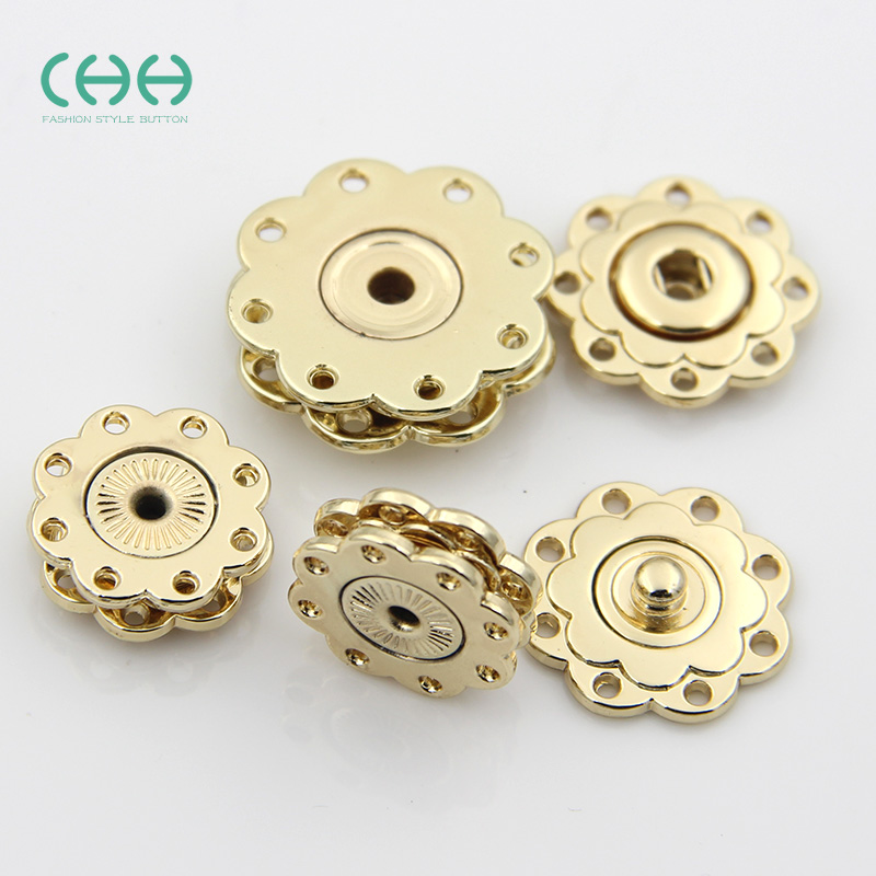 Chh clothing ladieswear golden snap button sweater coat buttons invisible dark metal buckle snap button buckle