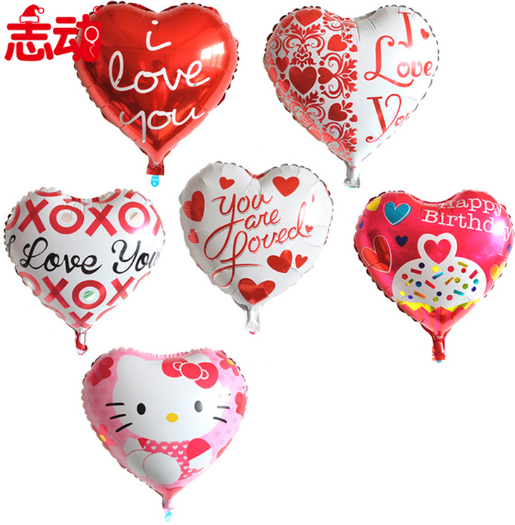 Chi moving aluminum love heart shaped balloon wedding birthday party party decoration supplies furnished holiday celebration code