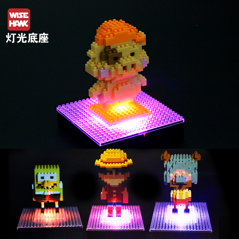 Chi ying lighting accessories floor display box diamond particles large blocks puzzle assembling toys accessories