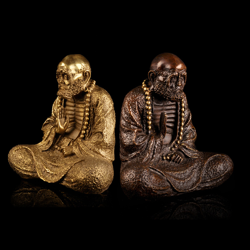Chi yuan court copper bodhidharma bodhidharma buddha ornaments home furnishings home decorations crafts furnishings gift
