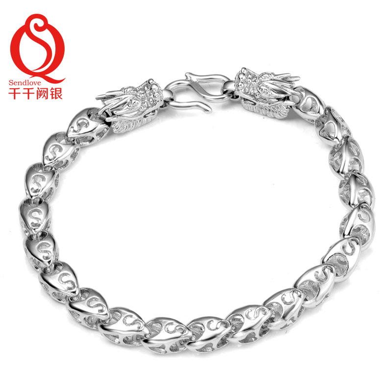 Chien que silver s925 silver bracelet dragon rugged domineering personality national wind tide men's silver jewelry jewelry