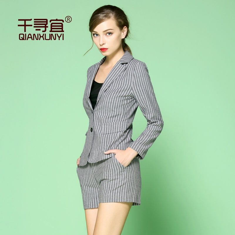 Chihiro should fall fashion suit women wear two piece suit autumn 2016 hitz women pants Was thin