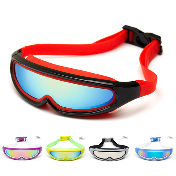Children and adolescents adult high common leak fogging goggles men and women swimming goggles electroplating big box glasses free shipping